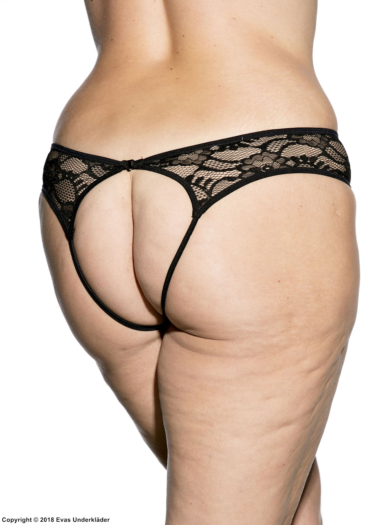 524c842fc Stretch lace open front panty